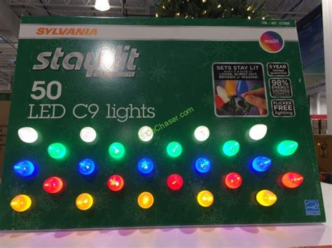 sylvania stay lit led c9 lights costcochaser