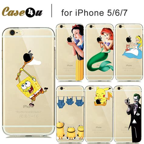 Snow White Vr46 Iphone Iphone 6 7 5s Oppo F1s Redmi S6 Vivo creative soft transparent pokemons go pikachus cover for iphone5 6s 7 8 plus silicon phone