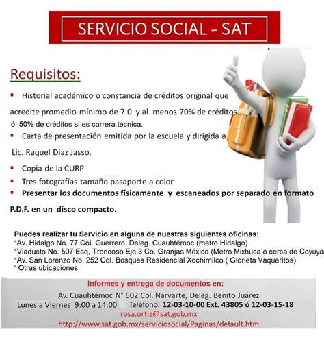convocatoria para servicio de servicio social avisos