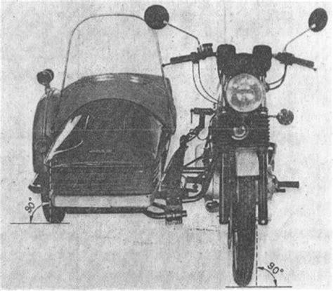Motorrad Gespann Einstellen by Betriebsanleitung Des Mz Superelastik Seitenwagen Miraculis