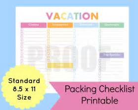 Holiday Packing List Template Item Details