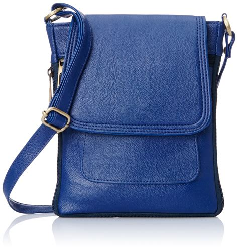 Blue Sling Bag alessia casual blue leatherette sling bag
