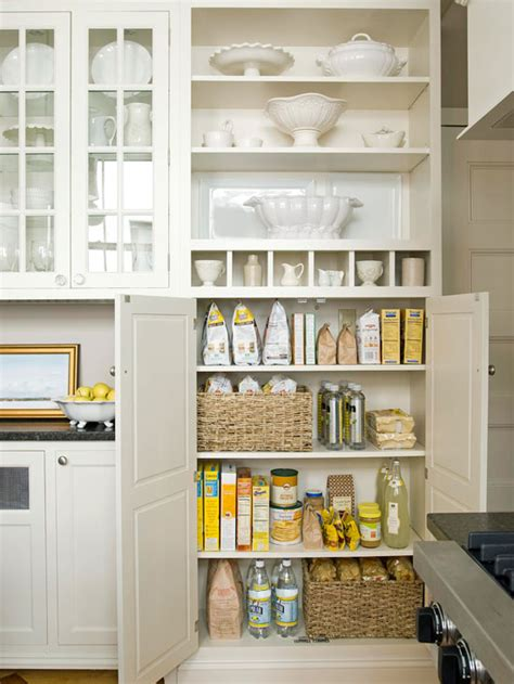 Pictures Of Pantries In Kitchens by Pantry Cabinets Country Kitchen Bhg