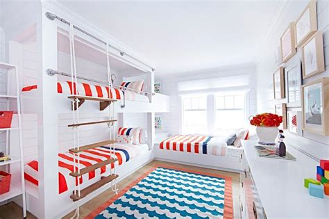 white bunk bed ladder white and blue boys bedroom with rope bunk bed ladder