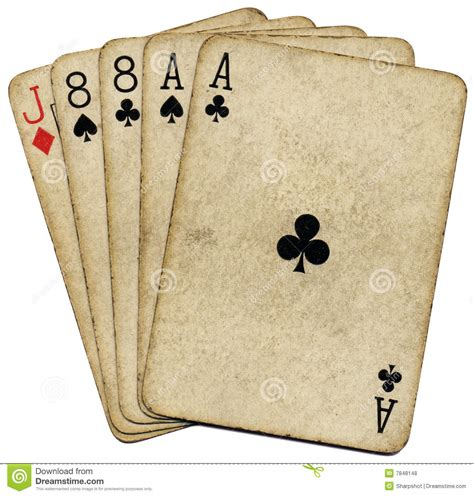 aces and eights the dead mans hand royalty free stock