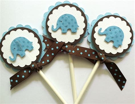 Cupcake Toppers For Baby Boy Shower by Cupcake Toppers Baby Boy Cupcake Toppers Baby Shower
