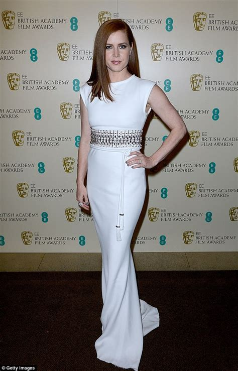 Amy Adams wears floor length gown as she attends the 2015 BAFTAs   Daily Mail Online