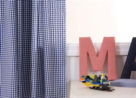 navy gingham curtains navy gingham curtains by babyface notonthehighstreet com