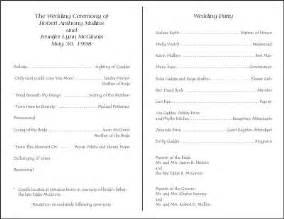 Creative wedding programs 21st bridal world wedding ideas and