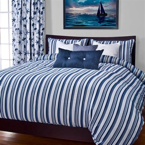 blue stripe comforter nautical blue stripe bedding set cabin place