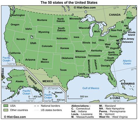 50 state map map usa 50 states mapsof net