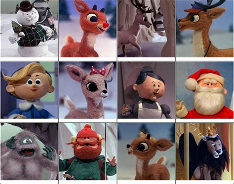 rudolph  red nosed reindeer characters quiz