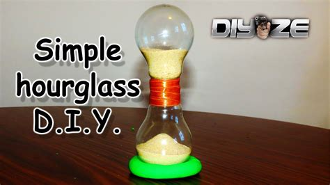 how to glass how to make an hourglass out of light bulbs