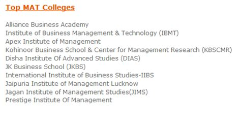 Mat Score To Join Dayananda College For Mba by Top Colleges Which Accept Mat Scores Mba India