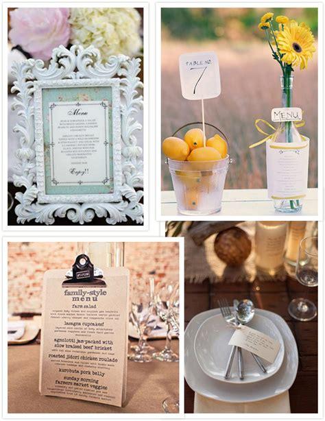 wedding table menu ideas wedding menu ideas diy wedding menus wedding projects