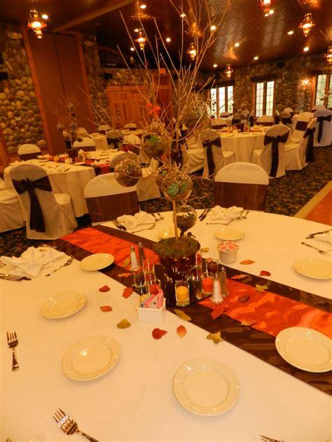 brown up decorations best 25 orange wedding centerpieces ideas on