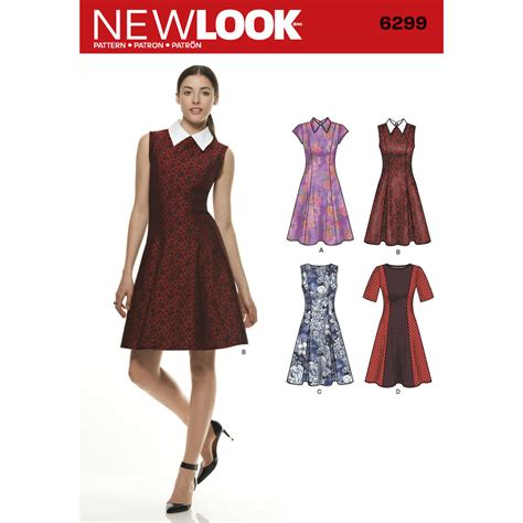 pattern review new look 6022 pattern for misses dress with neckline sleeve
