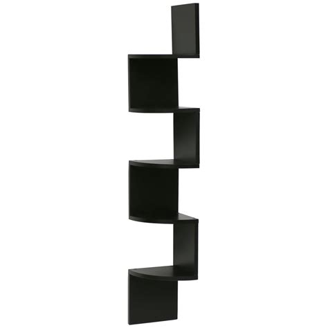 etagere holz vintage hartleys zig zag wood floating corner wall shelf unit