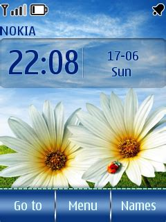 themes clock flower flower clock theme free download for nokia x2 01 new
