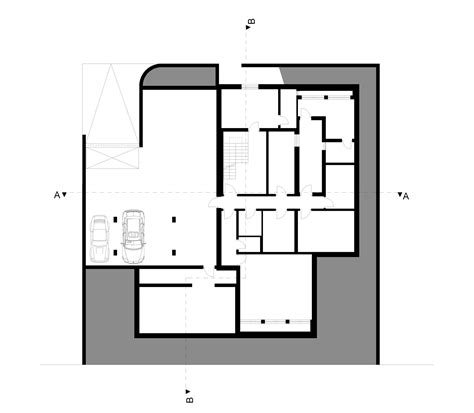 Underground Floor Plans by Gallery Of M2 House Monovolume Architecture Design 20