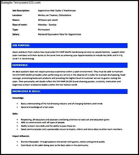 stylish resume templates free hair stylist resume template free sle templates