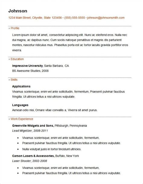 basic resume format sle basic resume sles template business