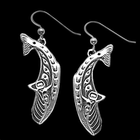 Sterling Silver Whale Earring sterling silver whales earrings by metal arts