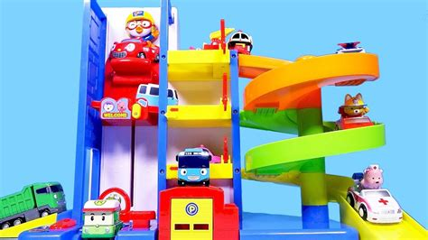 Robocar Poli Car Park pororo car parking tower and robocar poli tayo toys