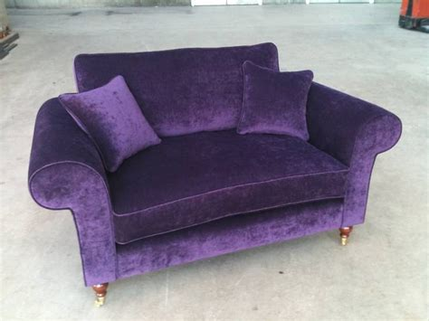 2 seater purple sofa bespoke 2 seater sofa purple velvet