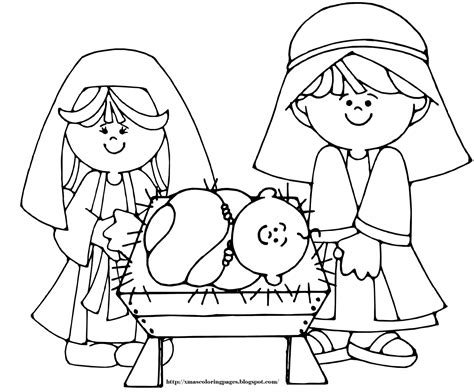 preschool coloring pages of baby jesus xmas coloring pages