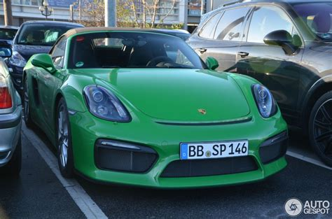green porsche boxster viper green 2016 porsche boxster spyder is a nod to retro