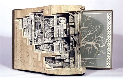 Artwork Book artist takes books and gives them new as
