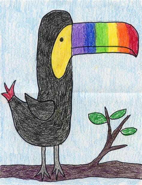 drawing crafts for toucan drawing projects for