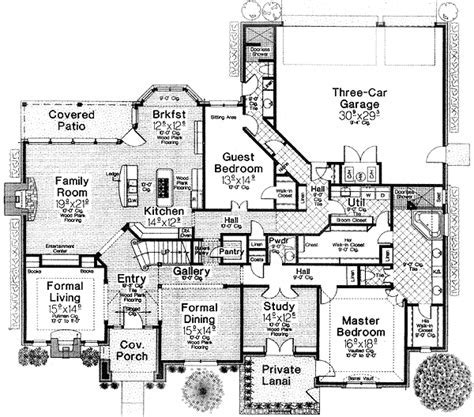 House plans with theater room   House design plans