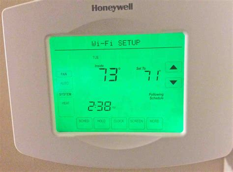reset wifi thermostat change wireless network on honeywell wifi thermostat