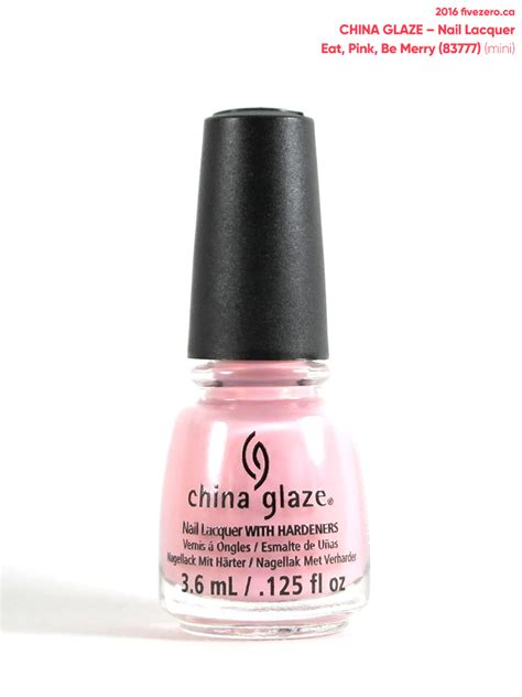 China Glaze Nail by China Glaze Eat Pink Be Merry Nail Lacquer Swatch