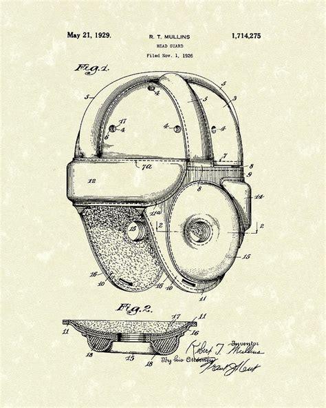 helmet design patents 1929 patent art vintage helmet drawing by prior art design