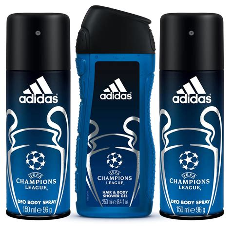 adidas deodorants for men combo pack of 4 assorted buy uefa chions league combo of 2 in 1 shower gel and 2