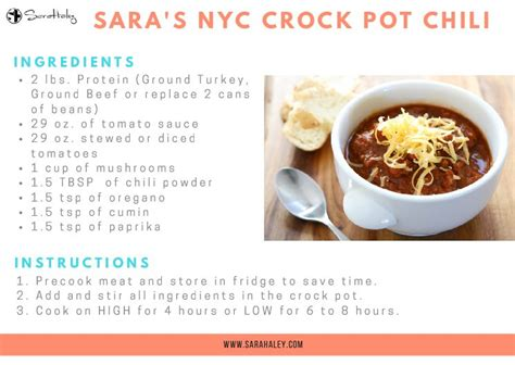 quick printable recipes my easy quick nyc crockpot chili sara haley