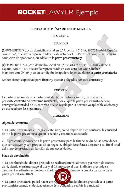 ejemplo de carta de prestamo de dinero formato de contrato de prestamo mercantil creditourav