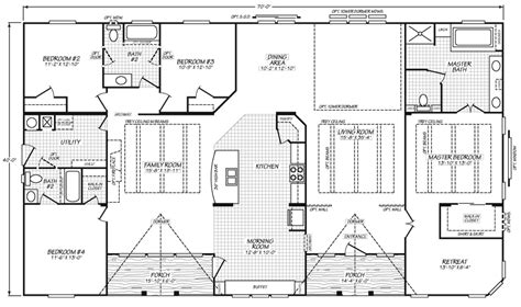 triple wide mobile home plans mobile homes floor plans triple wide