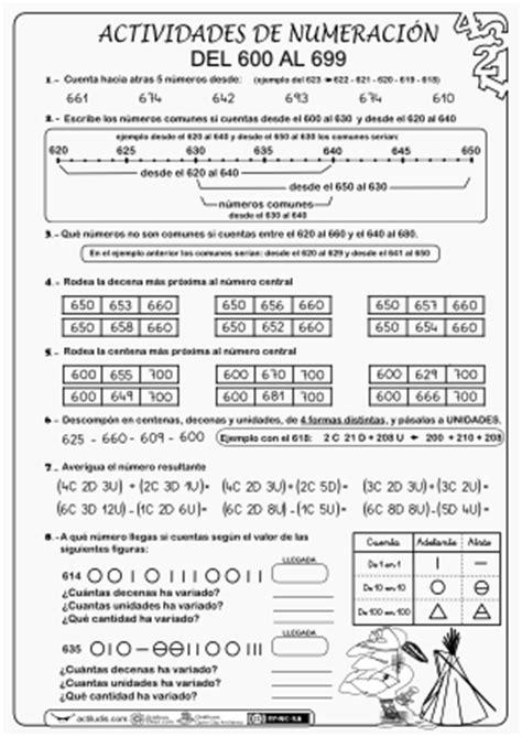 Numeración del 100 al 999 - Actiludis
