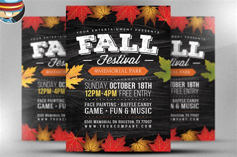 templates for fall flyers fall festival flyer template 2 flyer templates on