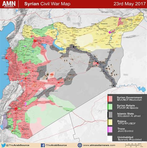 syrian war map map of syrian conflict after government s large