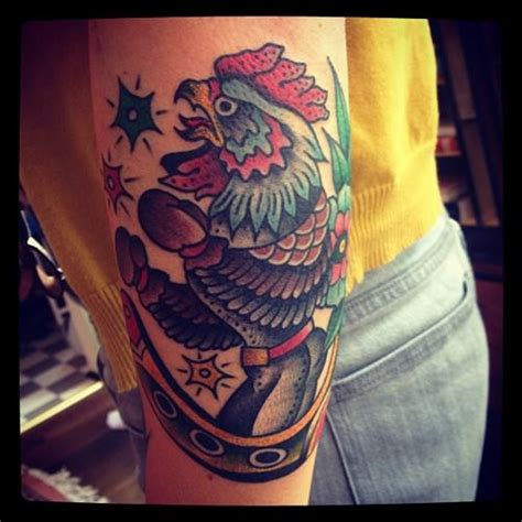 fighting rooster tattoo on rooster roosters and david hale
