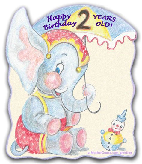 Happy Birthday Wishes For A 2 Year Happy Birthday Two Year Old Greeting Clip Art