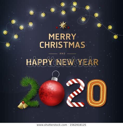 merry christmas happy  year  stock vector royalty