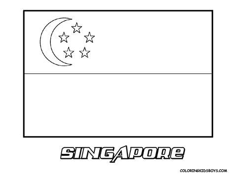 malaysia flag free coloring pages