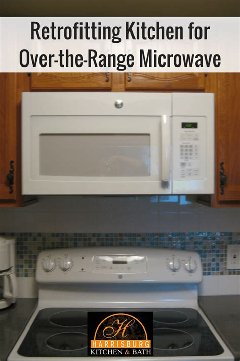 over the range microwave no cabinet retrofitting kitchen for over the range microwave