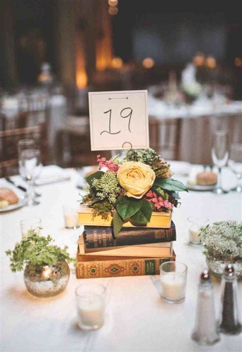 For A Diy Vintage Wedding Centerpieces With Books Rustic Rustic Vintage Wedding Centerpieces